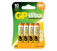 Батарейка GP AA (LR6) Ultra Alkaline 15AU-U4