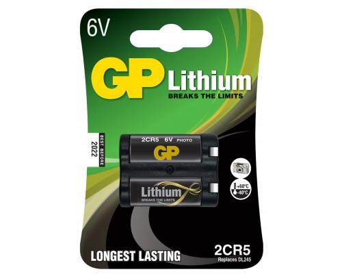 Литиевая цилиндрическая батарейка GP 2CR5-U1, 6V