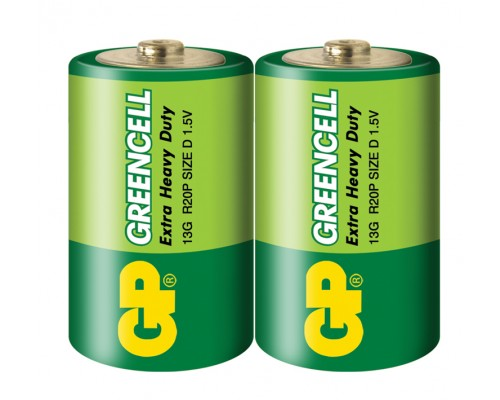 Батарейка GP Greencell 13G-S2, R20, D, 1.5V