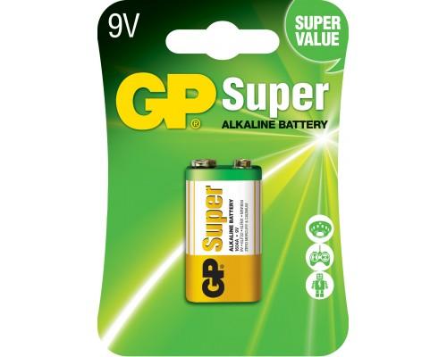 Батарейка GP 6LF22 (крона) Super Alkaline 1604A-U1