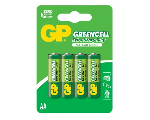 Батарейка GP Greencell 15G-U4, R6, АА, 1.5V