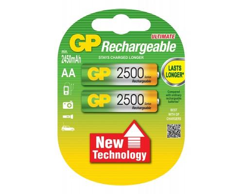 Аккумуляторная батарейка GP Professional 250AAHC-U2, 1.2V