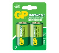 Батарейка GP Greencell 13G-U2, R20, D, 1.5V Солевые батарейки  GP Batteries