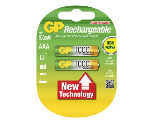 Аккумуляторная батарейка GP Professional 100AAAHC-U2, 1.2V