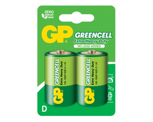 Батарейка GP Greencell 13G-U2, R20, D, 1.5V