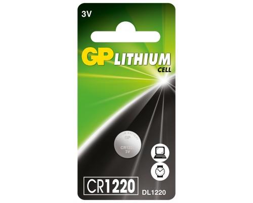 Литиевая батарейка GP CR1220-U1, 3V