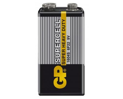 Батарейка крона GP Supercell 1604S-S1, 6F22, 9V