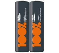 Батарейка AA (LR6) 100% PeakPower 15A-S2 Щелочные батарейки  GP Batteries