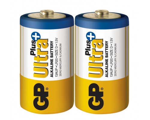Батарейка GP D (LR20) Ultra Plus Alkaline 13AUP-S2