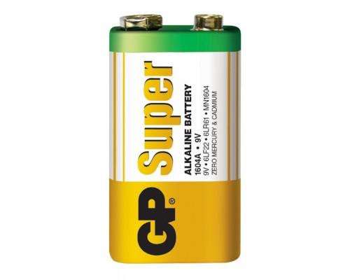 Батарейка GP 6LF22 (крона) Super Alkaline 1604A-S1