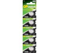 Литиевая батарейка GP CR2025-U5, 3V Литиевые батарейки  GP Batteries
