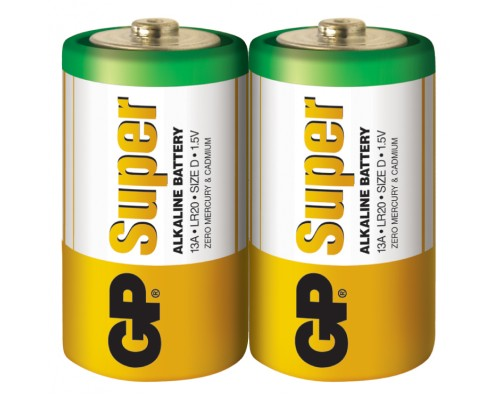 Батарейка GP D (LR20) Super Alkaline 13A-S2