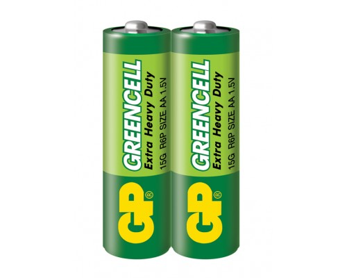 Батарейка GP Greencell 15G-S2, R6, АА, 1.5V