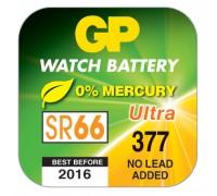 Часовая серебряно-цинковая батарейка GP 377A-U1, AG4, SR66, SR626SW, 1.55V