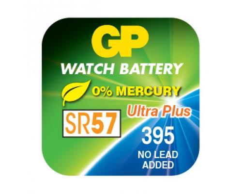 Часовая серебряно-цинковая батарейка GP 395-U1, AG10, SR936SW, G10, 1.55V