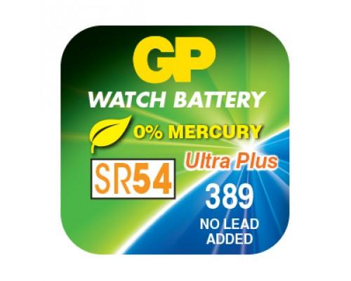 Часовая серебряно-цинковая батарейка GP 389-U1, AG10, SR54, S1130W, 1.55V
