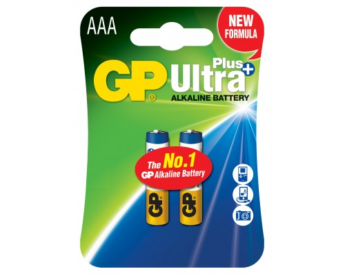 Батарейка GP AAA (LR03) Ultra Plus Alkaline 24AUP-U2