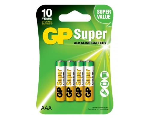 Батарейка GP AAA (LR03) Super Alkaline 24A-U4