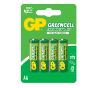 Батарейка GP Greencell 15G-U4, R6, АА, 1.5V Солевые батарейки  GP Batteries