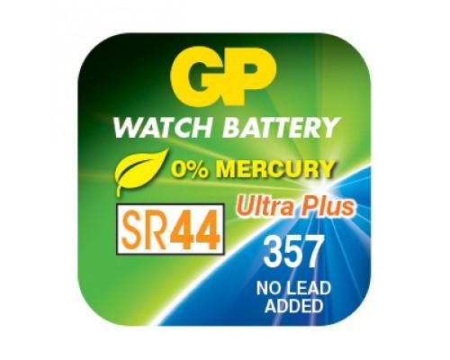 Часовая серебряно-цинковая батарейка GP 357-U1, G13  SR44, SR44W, 1.55V