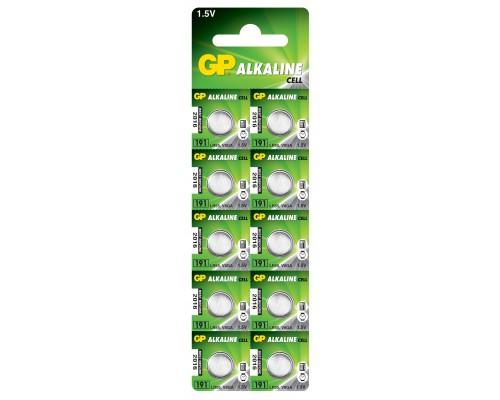 Батарейка GP AG8, 191-U10, LR55, 1.5V Alkaline